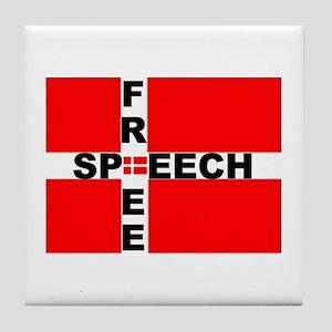 Free Speech Tile Coaster
