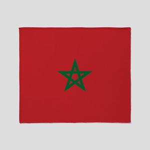 Flag: Morocco Throw Blanket