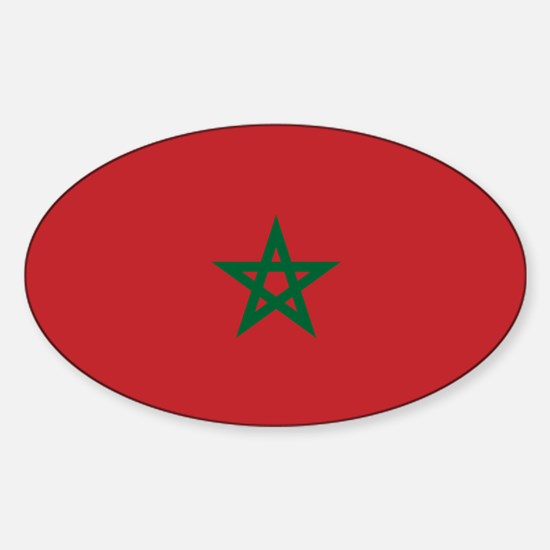 Flag: Morocco Sticker (Oval)