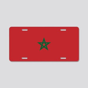 Flag: Morocco Aluminum License Plate