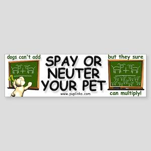 Spay / Neuter Bumper Sticker