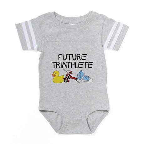 Future Triathlete Baby Football Bodysuit
