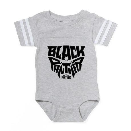 Black Panther Logo Baby Football Bodysuit