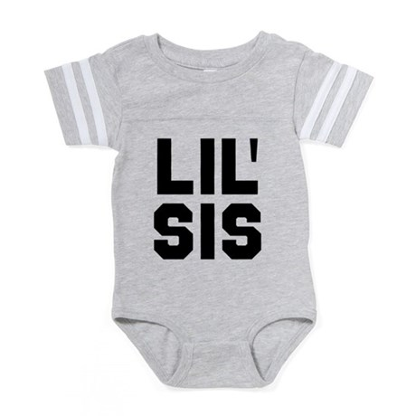 Lil Sis Baby Football Bodysuit