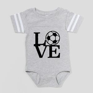 Love Soccer Baby Football Bodysuit
