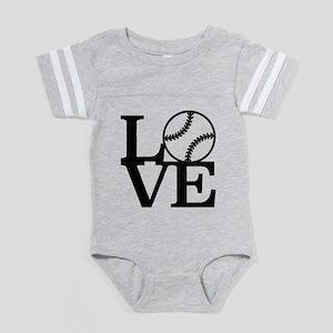 Love Baseball Baby Football Bodysuit