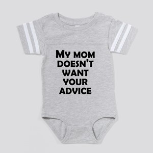 My Mommy Doesn't Want Your  Baby Football Bodysuit