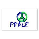 Peace Sign Sticker (Rectangle 50 pk)