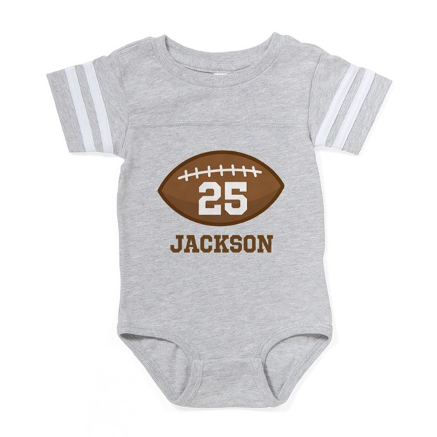 Personalized Football Playe Baby Football Bodysuit by Admin CP5297816 02cae279e