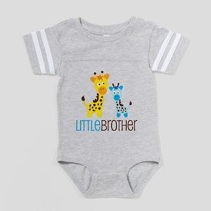 GiraffeLittleBrotherV2 Baby Football Bodysuit