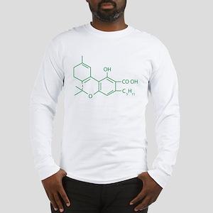 THC Molecule Long Sleeve T-Shirt