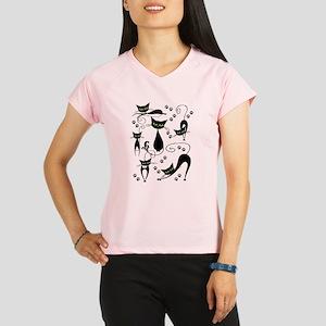 black cats Performance Dry T-Shirt