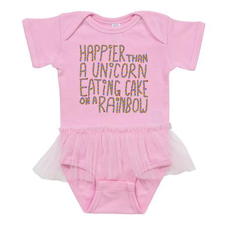 Happier That A Unicorn... Baby Tutu Bodysuit