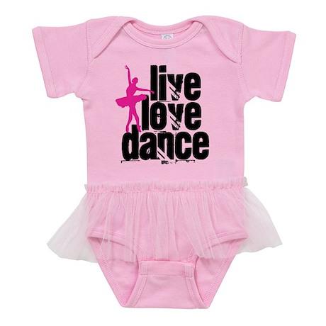 Live, Love, Dance with Ballerin Baby Tutu Bodysuit