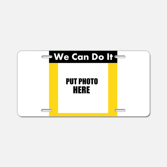 Make Your Own Rosie the Riveter Photo Aluminum Lic