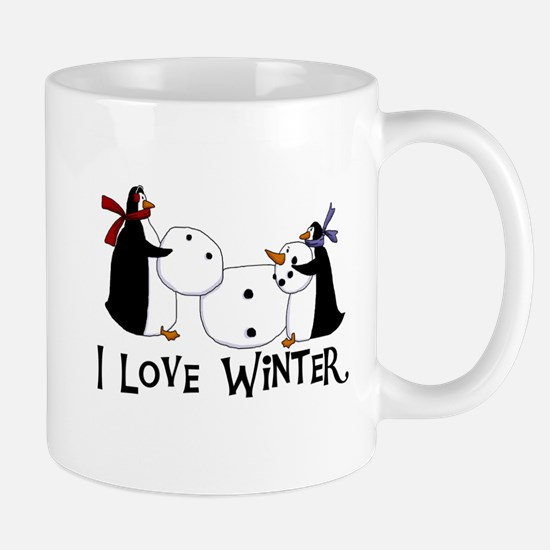 Penguins Love Winter Mug
