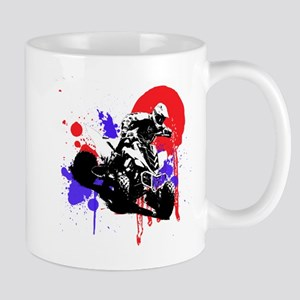 Red Splatter ATV Mugs