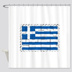 GREECE VISION Shower Curtain