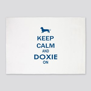 Keep Calm and Doxie 5'x7'Area Rug