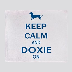 Keep Calm and Doxie Throw Blanket