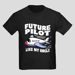 Future Pilot Like My Uncle Kids Dark T-Shirt