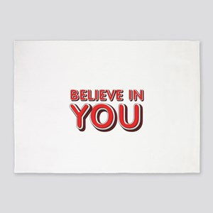 Believe in You 5'x7'Area Rug