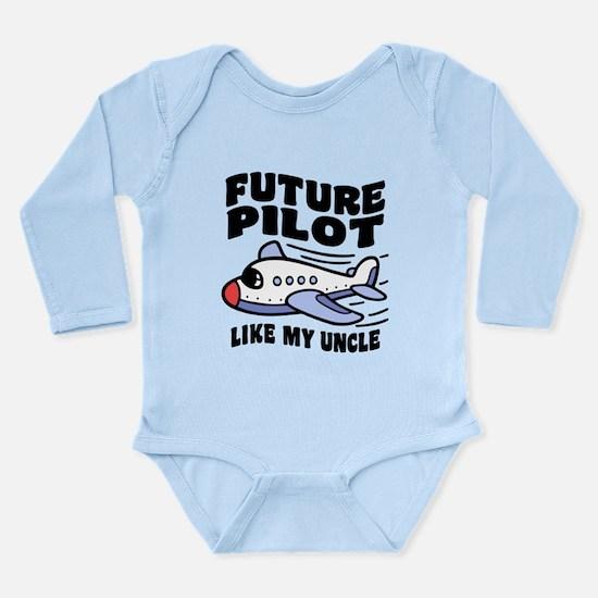 Future Pilot Like My U Long Sleeve Infant Bodysuit
