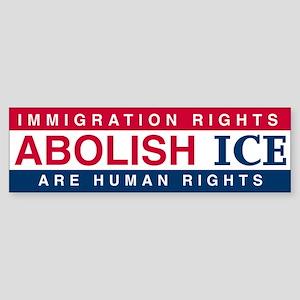 Abolish ICE (Color) Bumper Sticker