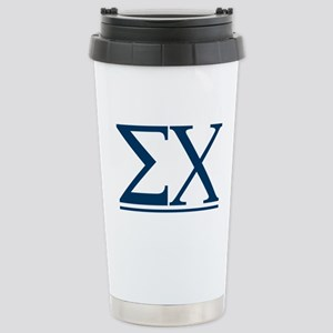 Sigma Chi Letters 16 oz Stainless Steel Travel Mug