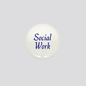Social Work (blue) Mini Button