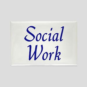 Social Work (blue) Rectangle Magnet