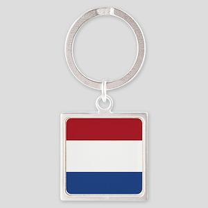 Flag: Netherland Square Keychain