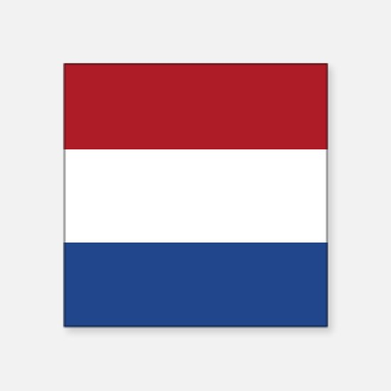 "Flag: Netherland Square Sticker 3"" x 3"""