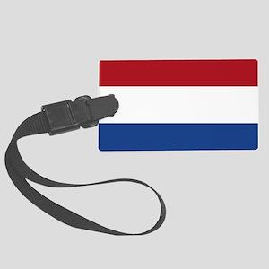 Flag: Netherland Large Luggage Tag