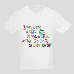Edward Bite Me Twilight Kids Light T-Shirt
