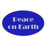 Peace on Earth Oval Sticker (50 pk)