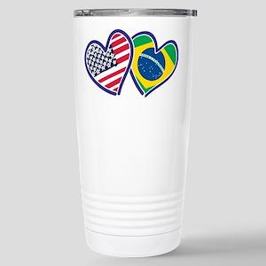USA Brazil Heart Flags Mugs