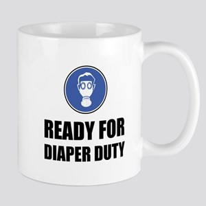 Ready For Diaper Duty Gas Mask Funny Mugs