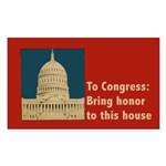 Congressional Honor Sticker (Rectangle 50 pk)