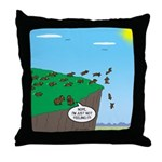 Lemming Individualists Throw Pillow