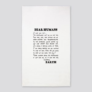 Letter to Humans from Earth Area Rug