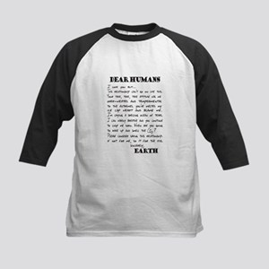 Letter to Humans from Earth Baseball Jersey