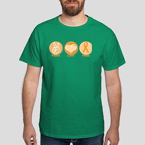 Peace Love Orange Hope Dark T-Shirt