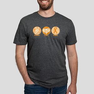 Peace Love Orange Hope Mens Tri-blend T-Shirt