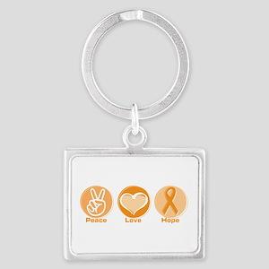 Peace Love Orange Hope Landscape Keychain