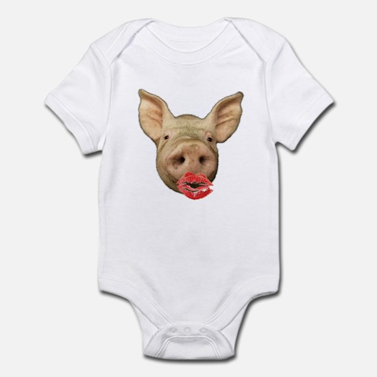 pigs with lipstick Infant Bodysuit