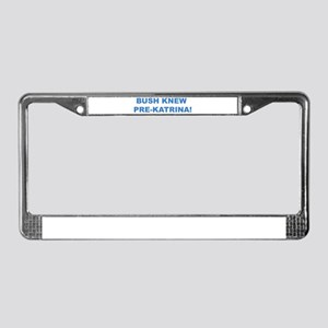 Bush Knew License Plate Frame