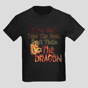 Don't tickle the Dragon Kids Dark T-Shirt
