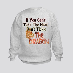 Don't tickle the Dragon Kids Sweatshirt