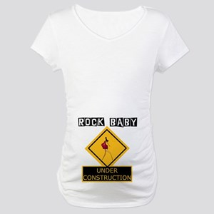 RockBaby Under Construction Maternity T-Shirt